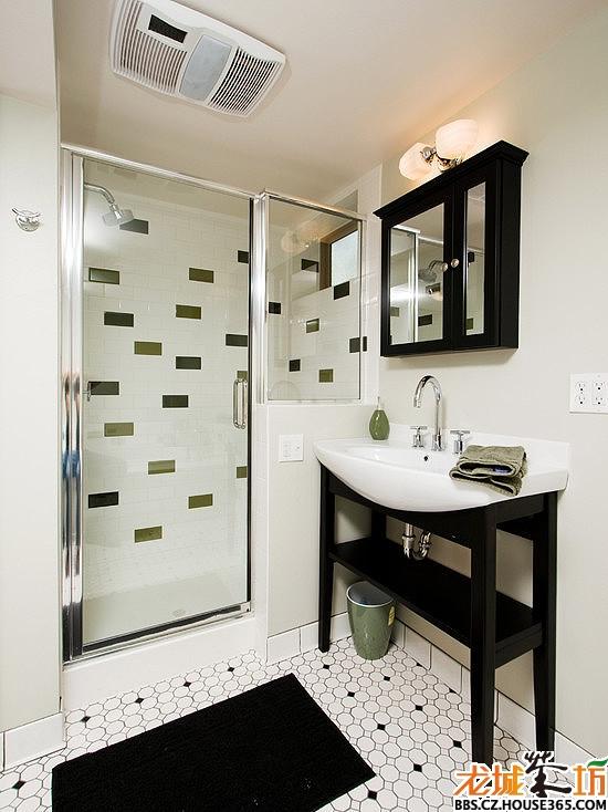 浴室隔断装修效果图 以上这些浴室隔断效果图只是九牛一-屋过道隔断
