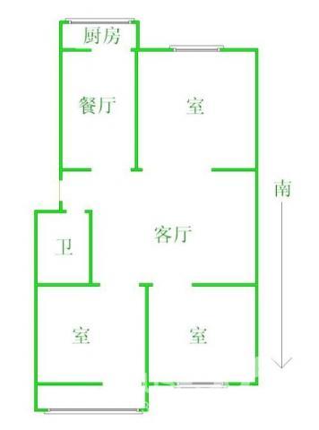 双岗地铁三号线旁,精装三室采光极佳,小区中心位置,居家舒适