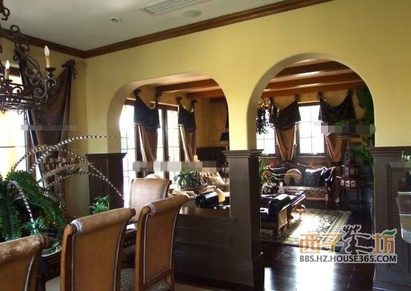 客厅餐厅隔断效果图 客厅与餐厅隔断设计图片