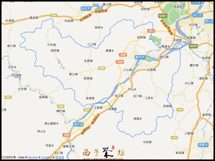 富阳市辖5个街道,13个镇,6个乡:富春街道,东洲街道,春江街道,鹿山街