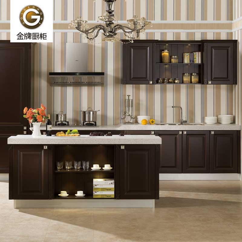 金牌厨柜 欧罗拉Ⅱ 吸塑板欧式整体厨房橱柜
