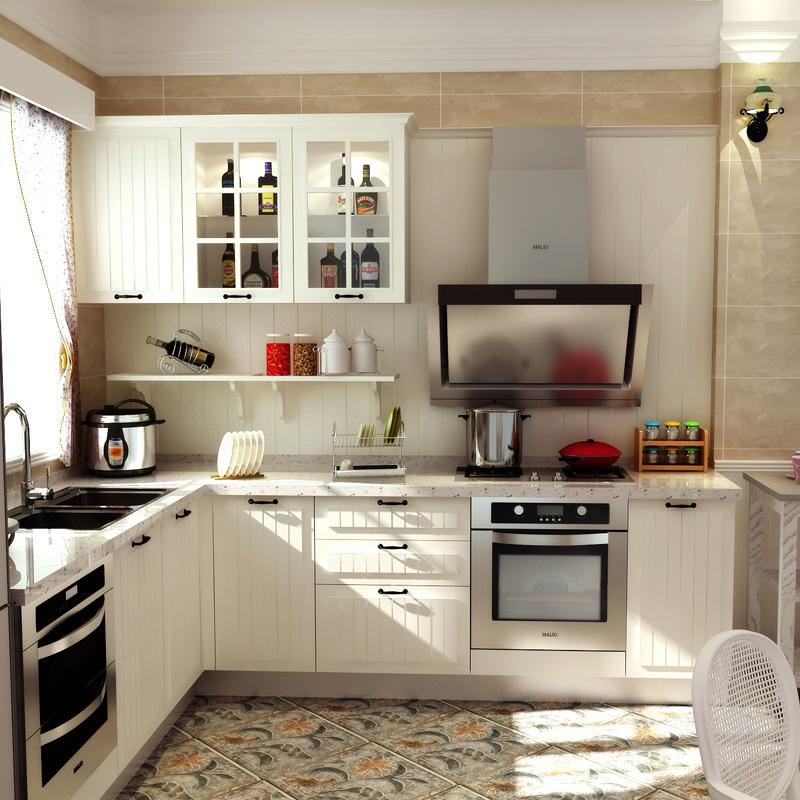 金牌厨柜 西雅图  整体橱柜订做厨房厨柜定制 简欧风格吸塑系列