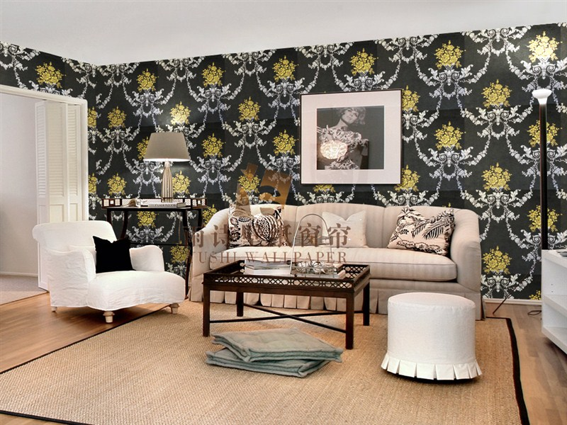 雨诗壁纸窗帘之个性欧式墙纸效果图-产品价格|报价