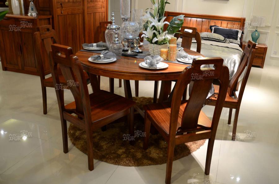 【g-6902圆餐桌】胡桃木 实木家具中式,现代中式,简单大方优雅的