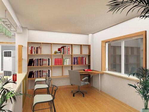 开放式书房效果图欣赏