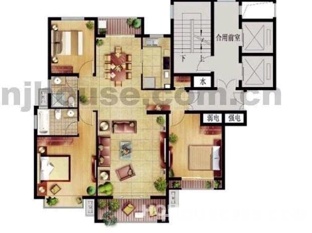 【浦口威尼斯水城二手房,4室2厅2卫120万元】威尼斯