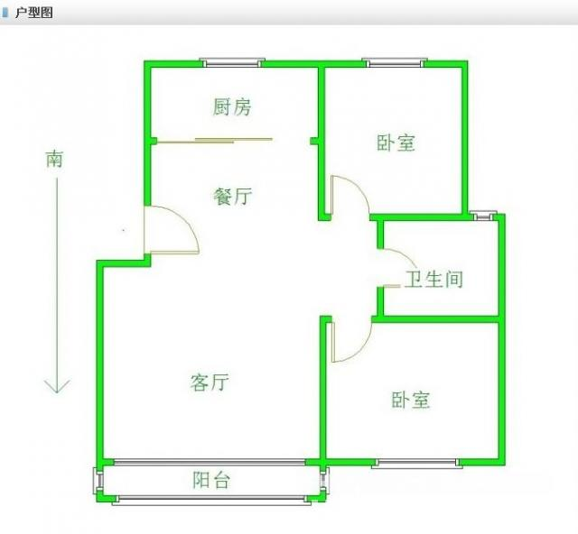 房屋平面设计图三房一厅