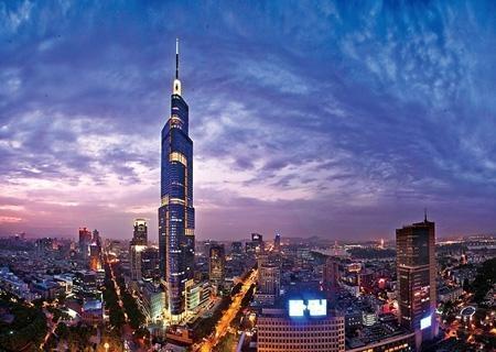 鼓楼中山路一号 南京地标建筑 紫峰大厦 甲级写字楼 低价急售