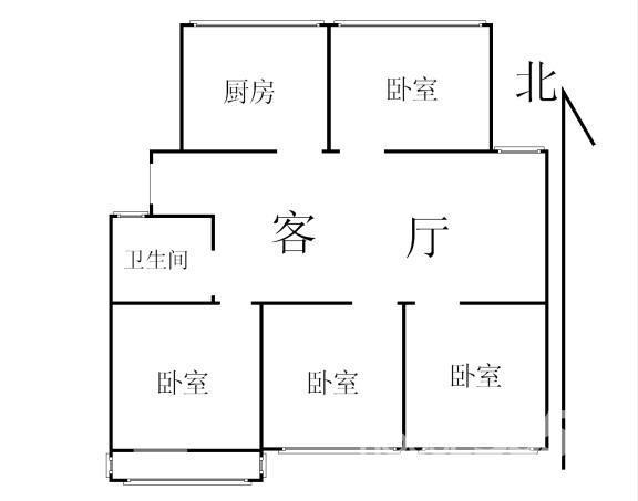 求110平方四房一厅房屋设计图分享展示