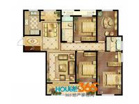 1#D户型01室四室两厅两卫一厨_165.4�O