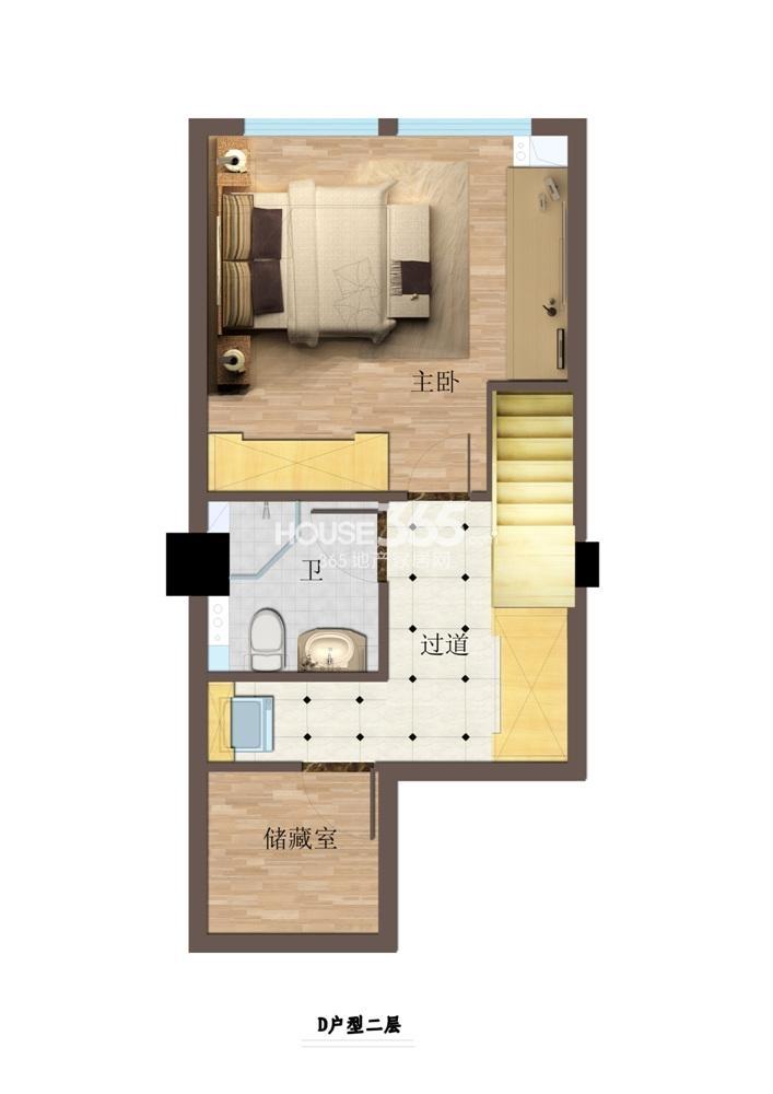东方红郡公寓D户型一层