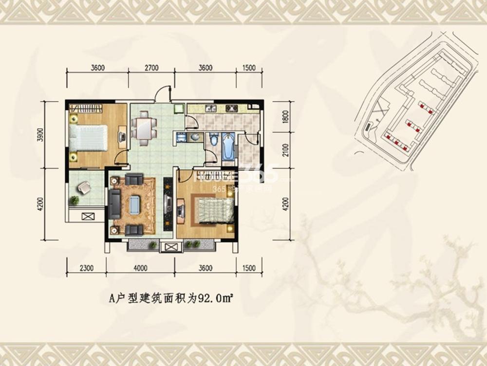 金盛田锦上户型图