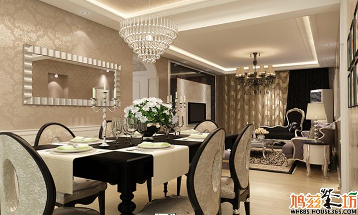 欧式风格客厅全贴墙砖效果图