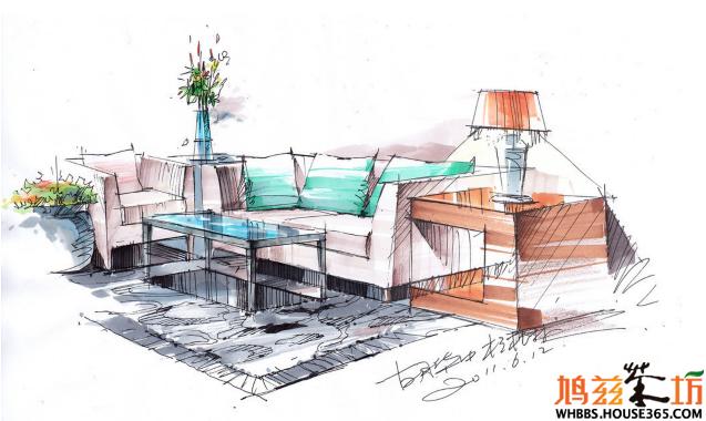 > 室内设计手绘教程设计图,完美室内空间设计,欣赏一下下吧!