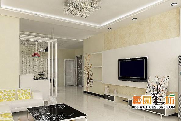 客厅吊顶装修效果图 装修风格不同