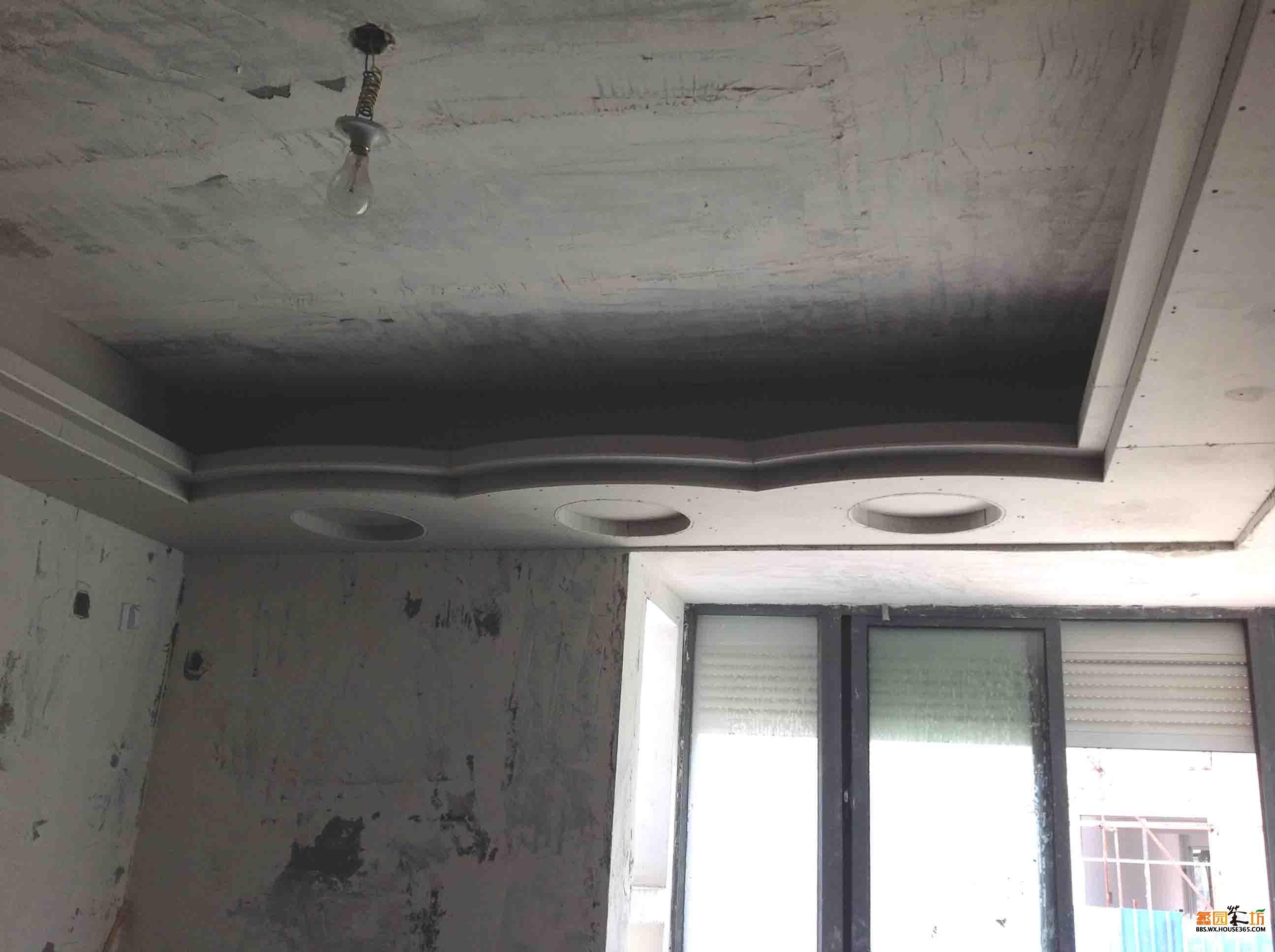 卧室圆形吊顶图片