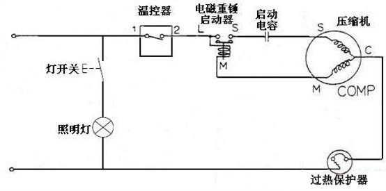 空调压缩机电容接线电路图