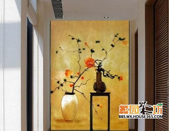 手绘唯美中国风,为家居增添美感背景墙