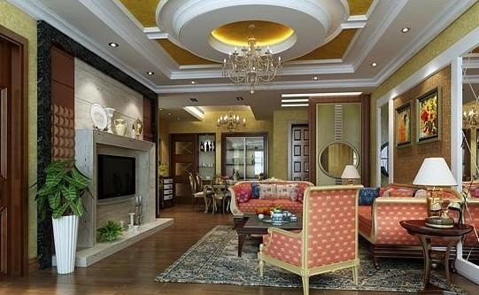 圆形吊顶图片大汇总 大气的客厅吊顶造型