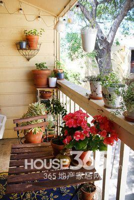 阳台装修效果图大全2013图片 清新融入自然